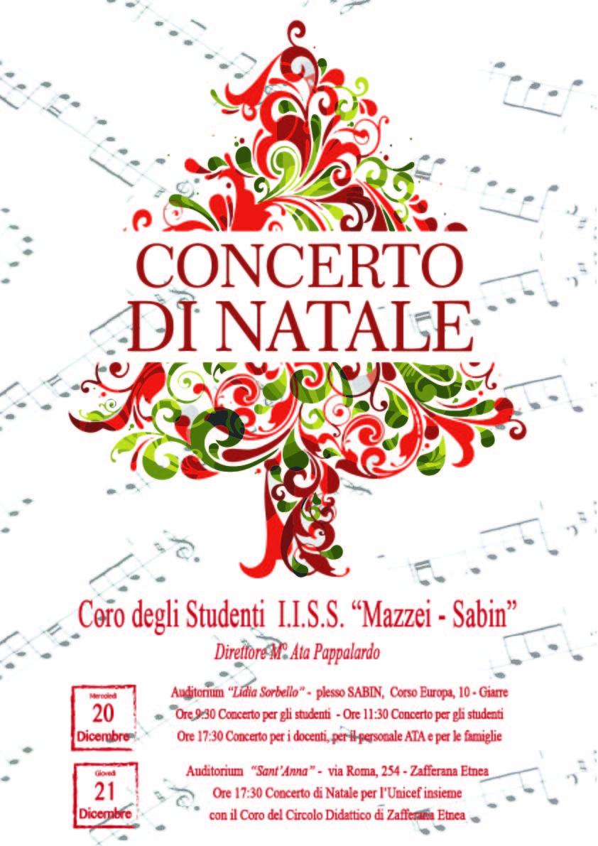 Concerto Di Natale.Circolare 110 Invito Concerto Di Natale